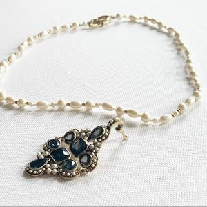 Vintage MONET Faux Pearl Necklace